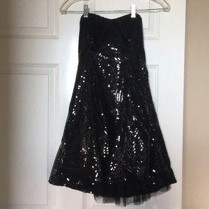 Black strapless prom/homecoming dress